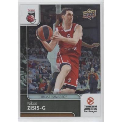 Коллекционная карточка 2016-17 Euroleague #38 NIKOS ZISIS (Brose Bamberg)
