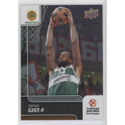 Коллекционная карточка 2016-17 Euroleague #41 JAMES GIST (Panathinaikos Athens)