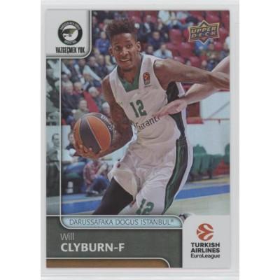 Коллекционная карточка 2016-17 Euroleague #46 WILL CLYBURN (Darussafaka Dogus Istanbul)