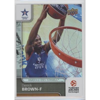 Коллекционная карточка 2016-17 Euroleague #53 DERRICK BROWN (Anadolu Efes Istanbul)
