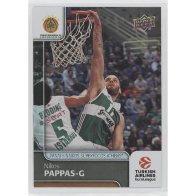 Коллекционная карточка 2016-17 Euroleague #55 NIKOS PAPPAS (Panathinaikos Athens)