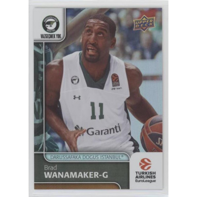 Коллекционная карточка 2016-17 Euroleague #57 BRAD WANAMAKER (Darussafaka Dogus Istanbul)