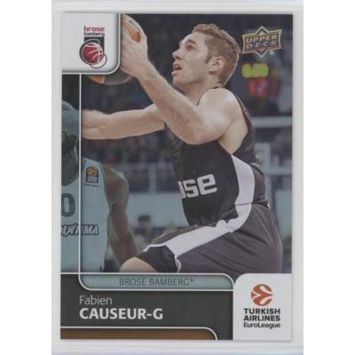 Коллекционная карточка 2016-17 Euroleague #60 FABIEN CAUSEUR (Brose Bamberg)