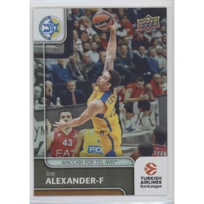 Коллекционная карточка 2016-17 Euroleague #62 JOE ALEXANDER (Maccabi Fox Tel Aviv)