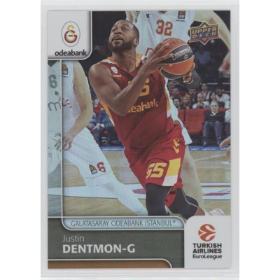 Коллекционная карточка 2016-17 Euroleague #64 JUSTIN DENTMON (Galatasaray Odeabank Istanbul)