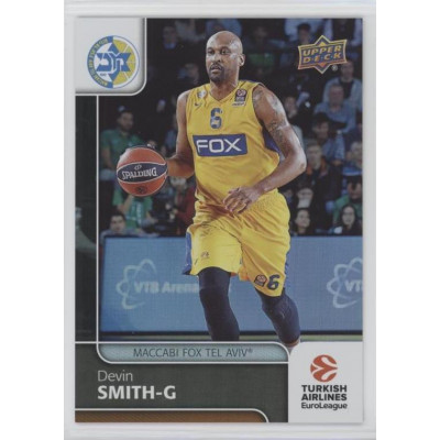 Коллекционная карточка 2016-17 Euroleague #69 DEVIN SMITH (Maccabi Fox Tel Aviv)