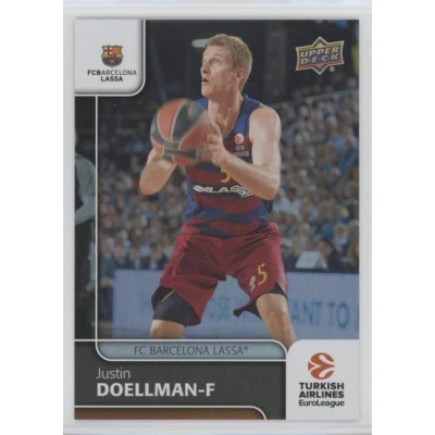 Коллекционная карточка 2016-17 Euroleague #70 JUSTIN DOELLMAN (FC Barcelona Lassa)