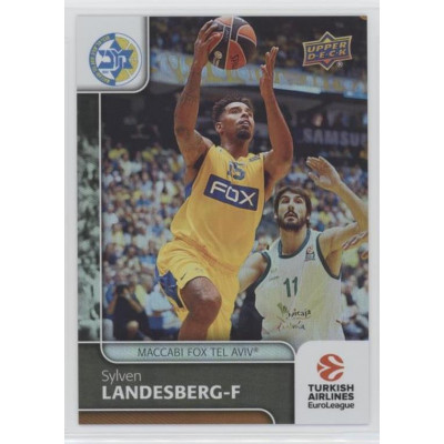 Коллекционная карточка 2016-17 Euroleague #73 SYLVEN LANDESBERG (Maccabi Fox Tel Aviv)