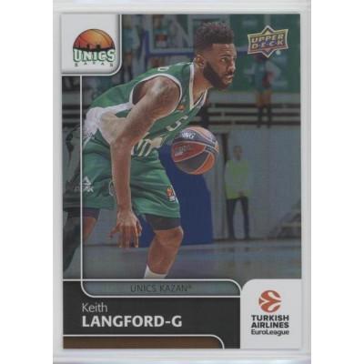Коллекционная карточка 2016-17 Euroleague #80 KEITH LANGFORD (Unics Kazan)