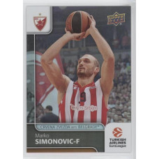 Коллекционная карточка 2016-17 Euroleague #83 MARKO SIMONOVIC (Crvena Zvezda MTS Belgrade)