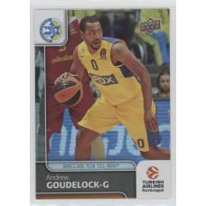 Коллекционная карточка 2016-17 Euroleague #85 ANDREW GOUDELOCK (Maccabi Fox Tel Aviv)