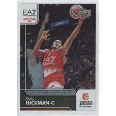 Коллекционная карточка 2016-17 Euroleague #90 RICKY HICKMAN (EA7 - Emporio Armani Milan)
