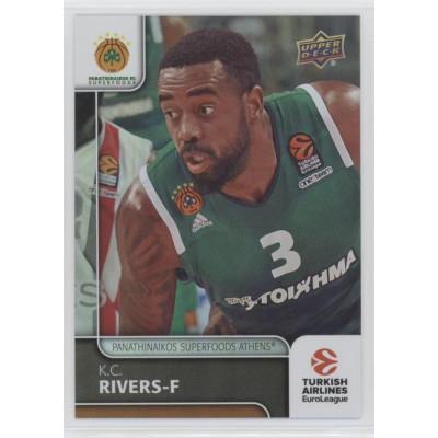 Коллекционная карточка 2016-17 Euroleague #91 K.C. RIVERS (Panathinaikos Athens)