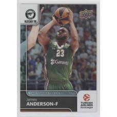 Коллекционная карточка 2016-17 Euroleague #93 JAMES ANDERSON (Darussafaka Dogus Istanbul)