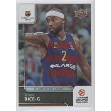 Коллекционная карточка 2016-17 Euroleague #95 TYRESE RICE (FC Barcelona Lassa)