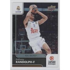 Коллекционная карточка 2016-17 Euroleague #96 ANTHONY RANDOLPH (Real Madrid)