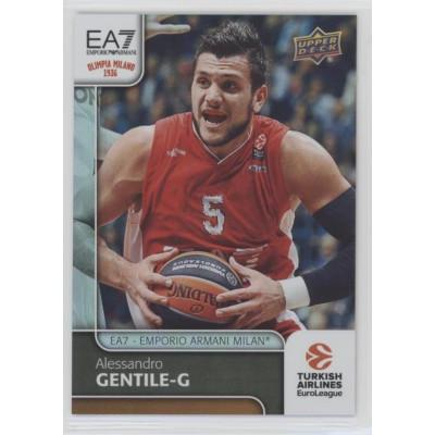 Коллекционная карточка 2016-17 Euroleague #21 ALESSANDRO GENTILE (EA7 - Emporio Armani Milan)