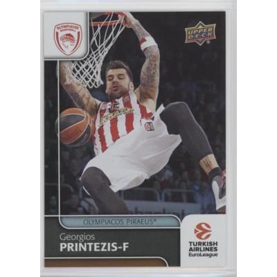 Коллекционная карточка 2016-17 Euroleague #35 GEORGIOS PRINTEZIS (Olympiacos Piraeus)