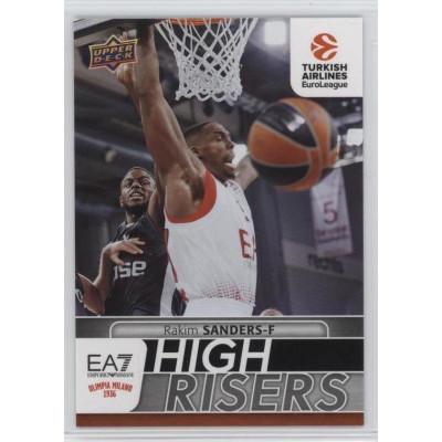 Коллекционная карточка 2016-17 Euroleague HR15 RAKIM SANDERS (EA7 - Emporio Armani Milan)