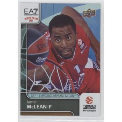 Коллекционная карточка 2016-17 Euroleague #18 JAMEL MCCLEAN (EA7 - Emporio Armani Milan)
