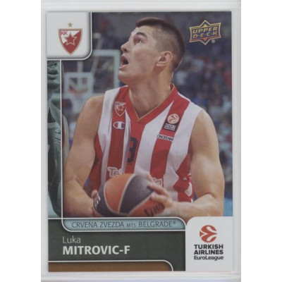 Коллекционная карточка 2016-17 Euroleague #17 LUKA MITROVIC (Crvena Zvezda MTS Belgrade)