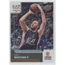 Коллекционная карточка 2016-17 Euroleague #28  MILAN MACVAN (EA7 - Emporio Armani Milan)