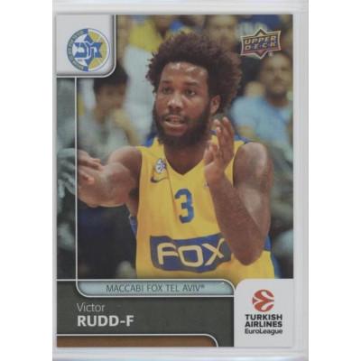 Коллекционная карточка 2016-17 Euroleague #26 VICTOR RUDD (Maccabi Fox Tel Aviv)
