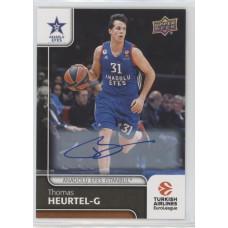 Коллекционная карточка 2016-17 Euroleague Autograph THOMAS HEURTEL (Anadolu Efes Istanbul)