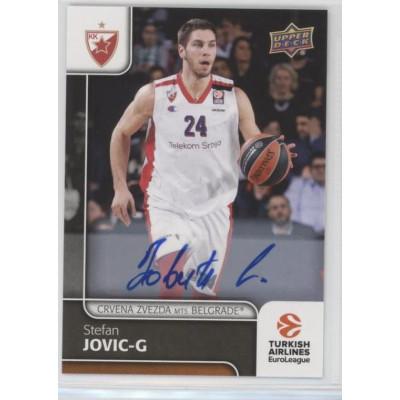 Коллекционная карточка 2016-17 Euroleague Autograph STEFAN JOVIC (Crvena Zvezda MTS Belgrade)