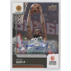 Коллекционная карточка 2016-17 Euroleague Autograph JAMES GIST (Panathinaikos Athens)