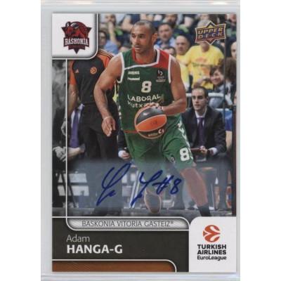 Коллекционная карточка 2016-17 Euroleague Autograph ADAM HANGA (Baskonia Vitoria)