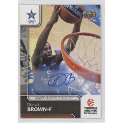 Коллекционная карточка 2016-17 Euroleague Autograph DERRICK BROWN (Anadolu Efes Istanbul)