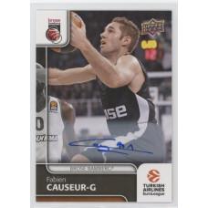 Коллекционная карточка 2016-17 Euroleague Autograph FABIEN CAUSEUR (Brose Bamberg)