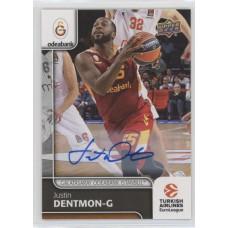 Коллекционная карточка 2016-17 Euroleague Autograph JUSTIN DENTMON (Galatasaray Istanbul)
