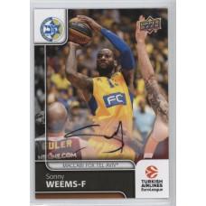 Коллекционная карточка 2016-17 Euroleague Autograph SONNY WEEMS (Maccabi Fox Tel Aviv)