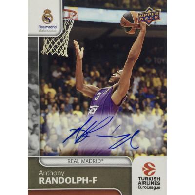 Коллекционная карточка 2016-17 Euroleague Autograph ANTHONY RANDOLPH (Real Madrid)