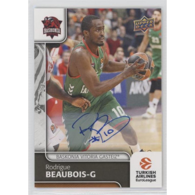 Коллекционная карточка 2016-17 Euroleague Autograph RODRIGUE BEAUBOIS (Baskonia Vitoria)