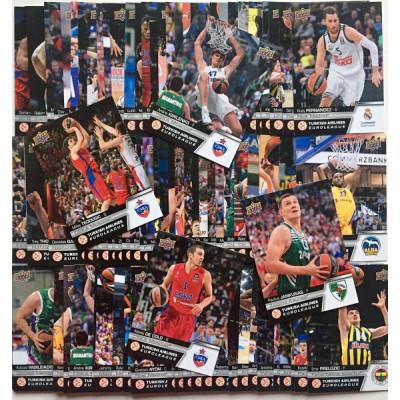 Полный комплект (сет) по коллекции 2015-16 Euroleague Basketball (100 карточек)