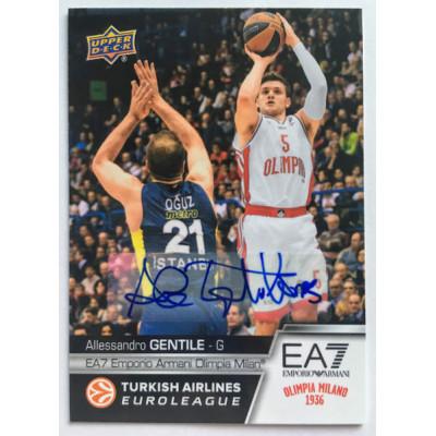 Коллекционная карточка 2015-16 Euroleague Autograph ALLESSANDRO GENTILE (EA7 Olimpia Milan)