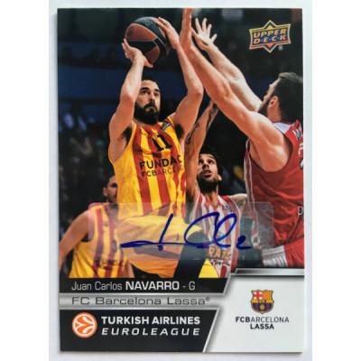 Коллекционная карточка 2015-16 Euroleague Autograph JUAN CARLOS NAVARRO (FC Barcelona Lassa)