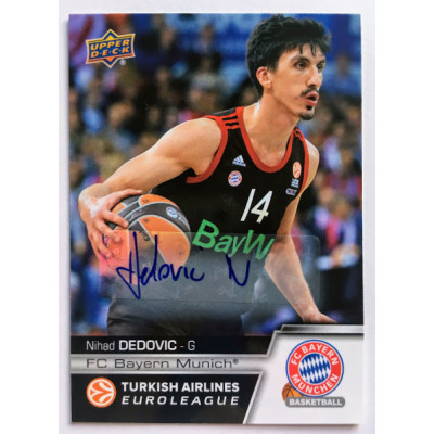 Коллекционная карточка 2015-16 Euroleague Autograph NIHAD DEDOVIC (FC Bayern Munich)