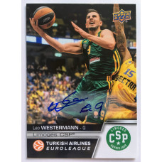 Коллекционная карточка 2015-16 Euroleague Autograph LEO WESTERMANN (Limoges CSP)