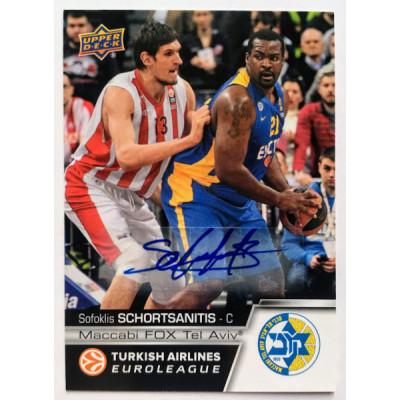 Коллекционная карточка 2015-16 Euroleague Autograph SOFOKLIS SCHORTSANITIS (Maccabi Tel Aviv)