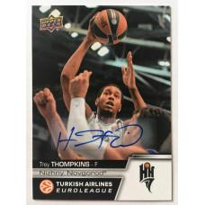 Коллекционная карточка 2015-16 Euroleague Autograph TREY THOMPKINS (Nizhny Novgorod)
