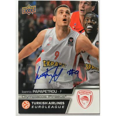 Коллекционная карточка 2015-16 Euroleague Autograph IOANNIS PAPAPETROU (Olympiacos Piraeus)