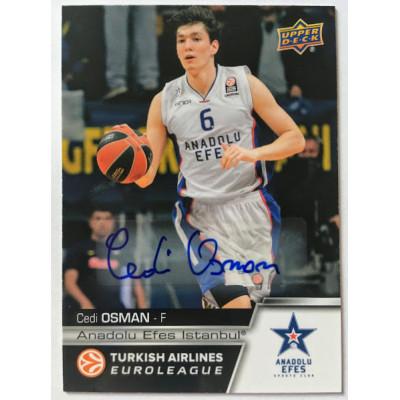 Коллекционная карточка 2015-16 Euroleague Autograph CEDI OSMAN (Efes Istanbul)