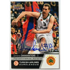 Коллекционная карточка 2015-16 Euroleague Autograph DIMITRIS DIAMANTIDIS (Panathinaikos Athens)