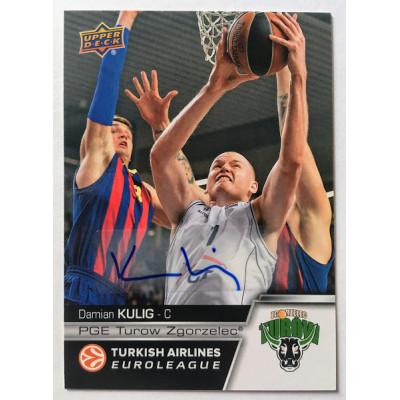 Коллекционная карточка 2015-16 Euroleague Autograph DAMIAN KULIG (Turow)