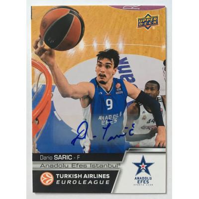 Коллекционная карточка 2015-16 Euroleague Autograph DARIO SARIC (Efes Istanbul)