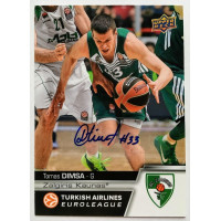 Коллекционная карточка 2015-16 Euroleague Autograph TOMAS DIMSA (Zalgiris Kaunas)